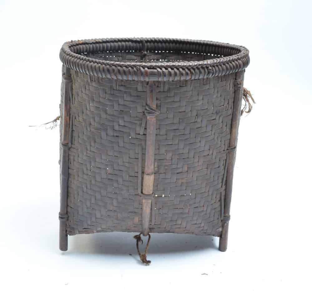 basket used to collect rice or tobacco from the Akha from Northern Thailand