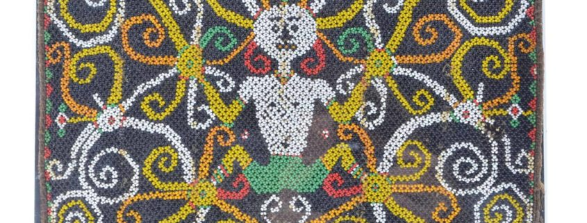 Dayak beadwork of babycarrier